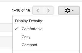 Customize the display density of Gmail.