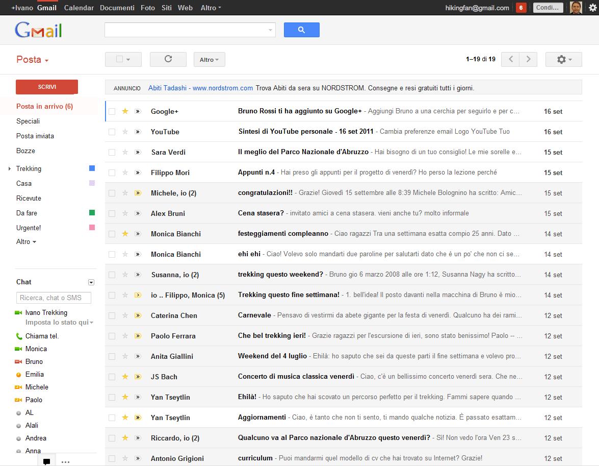 gmail accedi mail